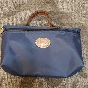 Longchamp Le Pliage nylon cosmetic bag navy blue
